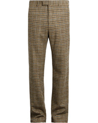 Gucci Checked Straight Leg Wool Trousers
