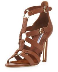 Brown heeled sandals original 1637133