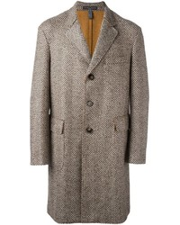 Jacob Cohen Herringbone Pattern Mid Coat