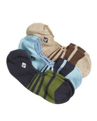 Sperry Marl Striped Liner Socks