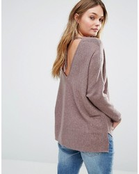 Only Deep V Back Knitted Top