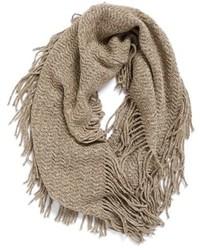Marled knit fringe infinity scarf medium 1102217