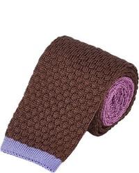 Brown Knit Tie