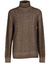 Brown Knit Turtleneck