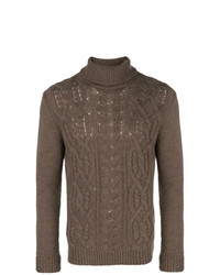 Tagliatore Todd Cable Knit Jumper