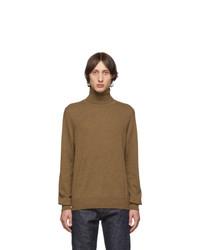 Brown Knit Wool Turtleneck