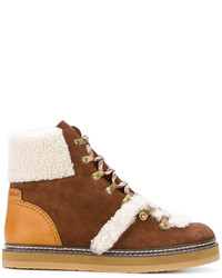 See by Chloe See By Chlo Shearling Trim Ankle Boots