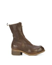 Guidi Block Heel Zip Front Boots