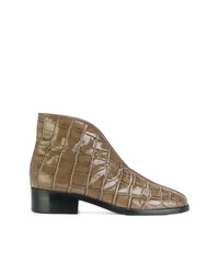 Lemaire Croc Embossed Boots