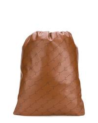 Stella McCartney Logo Perforated Drawstring Backpack