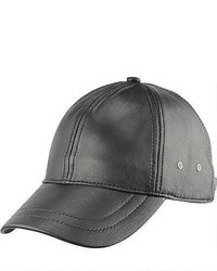 Brown Leather Baseball Cap