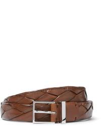 25cm brown braided leather belt medium 1245854