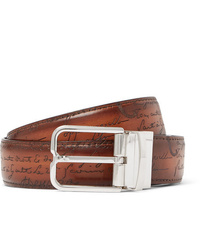 Berluti 32cm Scritto Reversible Leather Belt