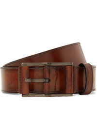 Berluti 35cm Brown Leather Belt