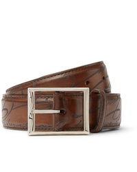 Berluti 35cm Brown Scritto Leather Belt