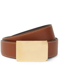 Salle Privée 4cm Brown And Tan Milton Reversible Leather Belt