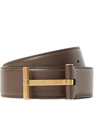 Tom Ford 4cm Brown Full Grain Leather Belt