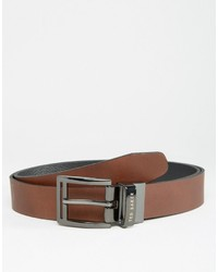 Ted Baker Belt In Leather Reversible
