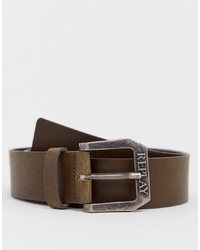 Replay Leather Belt In Brown