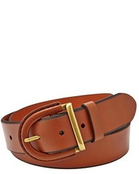 Fossil Leather Covered Buckle Belt