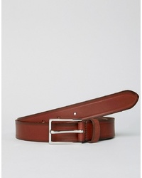 Esprit Slim Leather Smart Belt In Brown