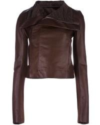 Draped collar biker jacket medium 1291372