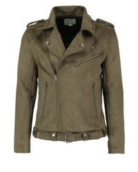 Faux leather jacket brown medium 3832996
