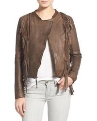 Levi's Fringed Stonewash Lambskin Leather Jacket