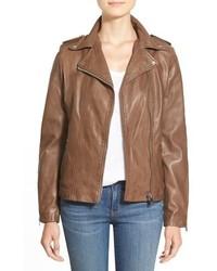 Lamarque Terri Lambskin Leather Moto Jacket