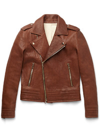 Balmain Slim Fit Leather Biker Jacket