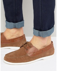 Silver Street Boat Shoes Tan