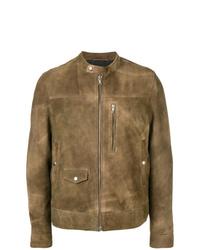 Mauro Grifoni Brushed Leather Jacket
