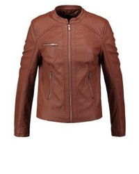 Faux leather jacket cognac medium 3993077