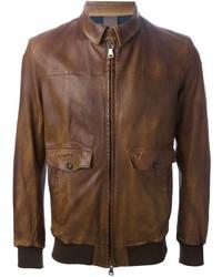Orciani Leather Bomber Jacket