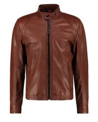 Strellson Leather Jacket Cognac