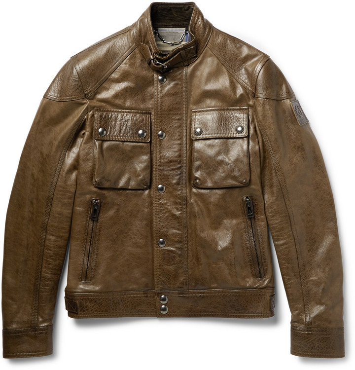 eaaf221b3 £1,657, Belstaff Racemaster Leather Jacket