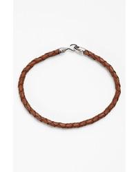 Mateo Bijoux Greek Braided Leather Bracelet