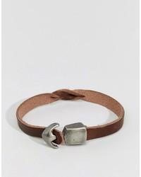 Jack and Jones Jack Jones Leather Bracelet With Hook Fastening