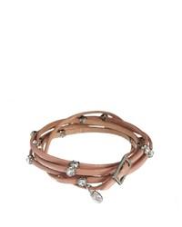 Orelia Leather Wrap Bracelet