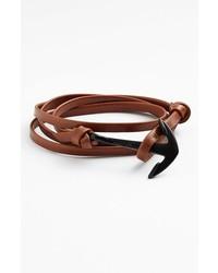 Miansai Noir Anchor Leather Bracelet