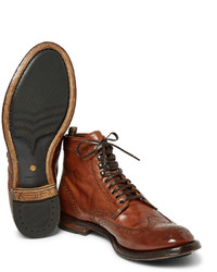 d0a1f58742f76 Officine Creative Anatomia Burnished Leather Brogue Boots, £567   MR ...
