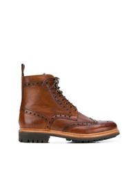 Grenson Brogued Ankle Boots