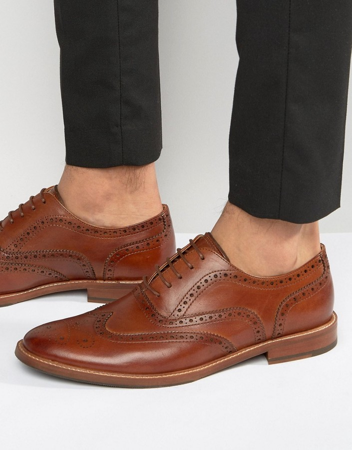 ALDO Bartolello Leather Brogue Shoes In Tan wholesale online cheap new styles clearance store cheap online wide range of for sale Fg4i2e