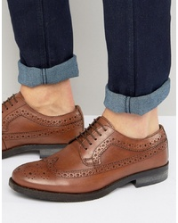 Silver Street Brogues In Tan