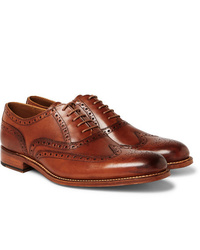 Grenson Dylan Burnished Leather Wingtip Brogues