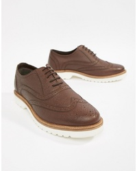 Ben Sherman Scotch Brogues In Tan Leather