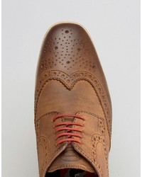 Base London Shore Leather Brogue Shoes