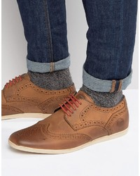 Base London Shore Leather Brogue Shoes