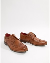 Silver Street Smart Brogues In Tan