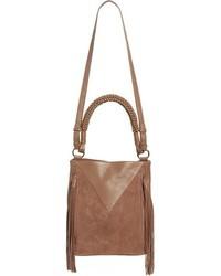 Monica leather bucket bag black medium 806750